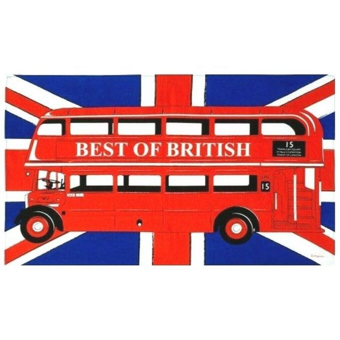 Union Jack Wear London Bus Tea Towel