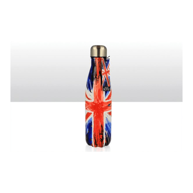 Union Jack Wear Union Jack Insulated Bottle Stainless Steel 'Spin Painting' design 480ml