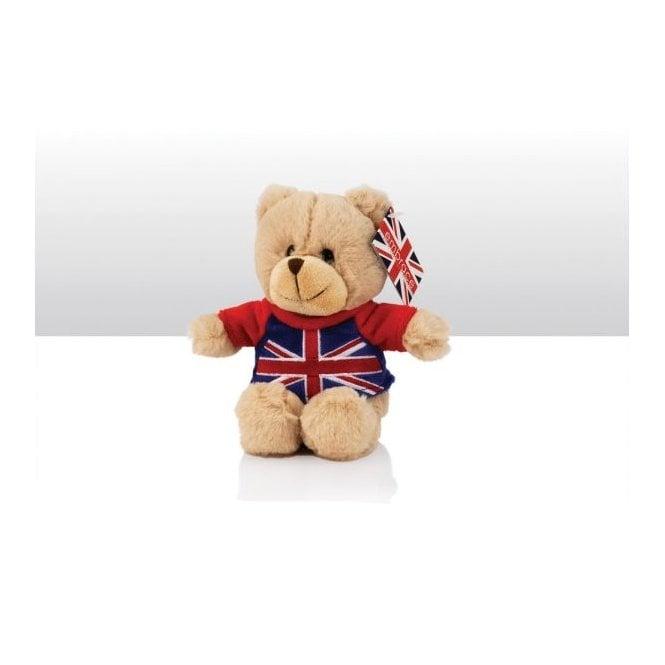 Union Jack Wear Teddy Bear with Union Jack T-Shirt - 15cm tall