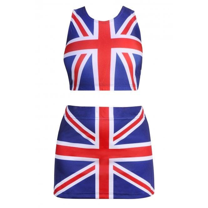 Union Jack Wear Union Jack Crop Top and Skorts