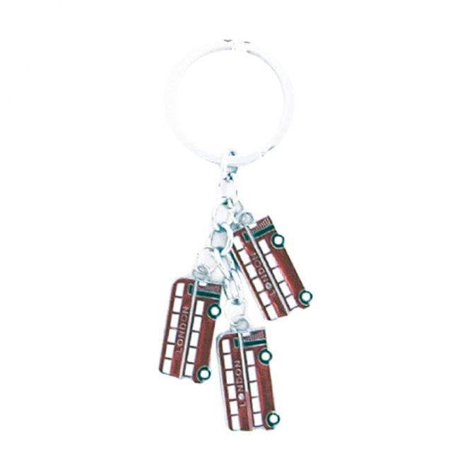 Union Jack Wear Keyring / bag charm 3 London Busses