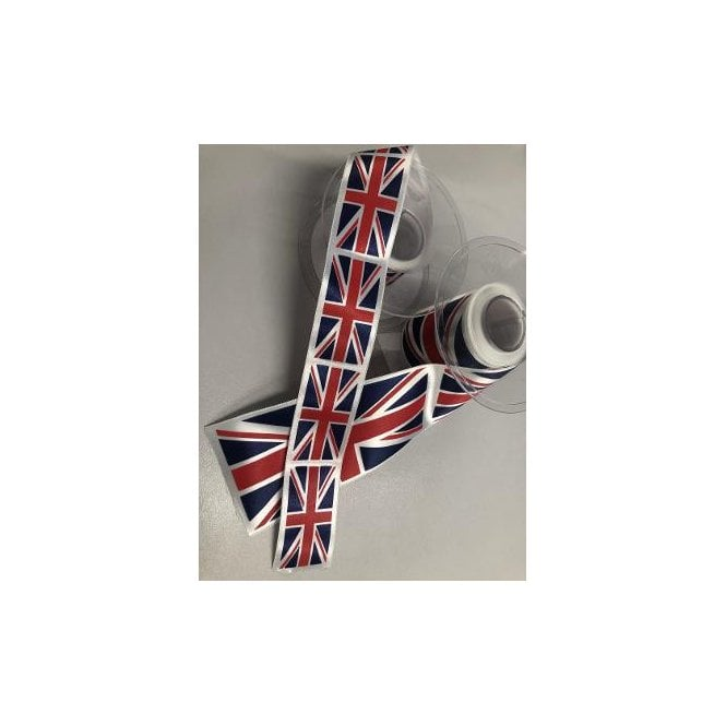Union Jack Wear Union Jack Flag Ribbon Red White & Dark Blue