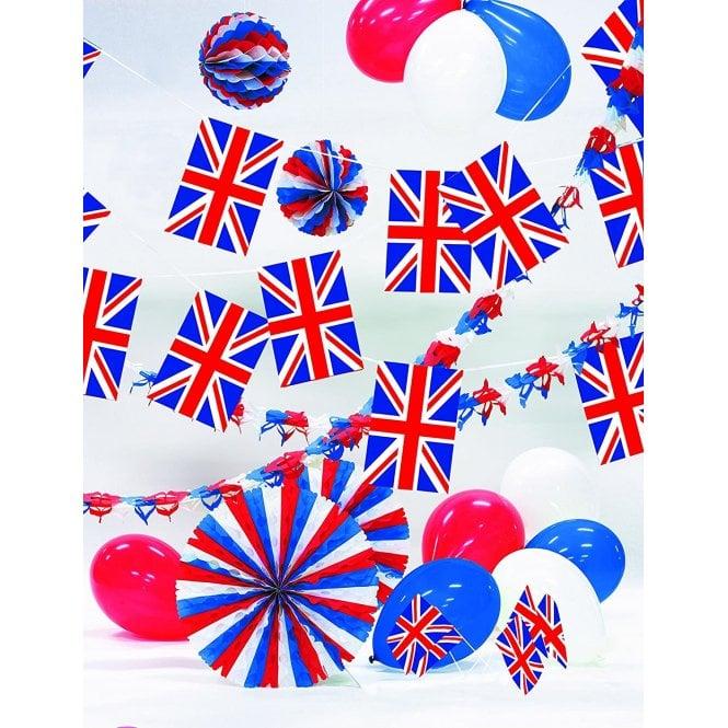 Union Jack Wear Party Decoration Kit - Union Jack - Great Britian. Inc Garlands, balloons bunting etc