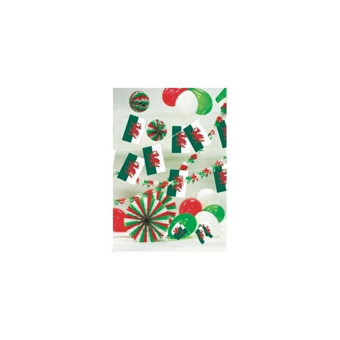 Union Jack Wear Party Decoration Kit - WALES - St David. Inc Garlands, balloons bunting etc