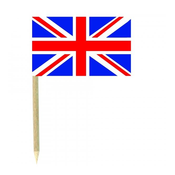 Union Jack Wear Union Jack Flag Party picks - pack of 50 United Kingdom