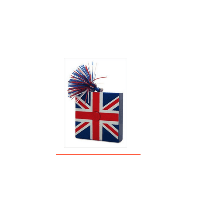 Union Jack Wear Union Jack Measuring Tape Square with tassle