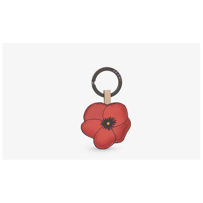 Union Jack Wear Leather Poppy Keyring