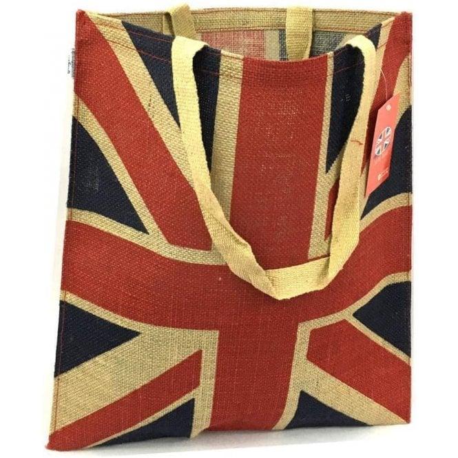 Union Jack Wear Union Jack Jute Shopping Bag - short shoulder strap