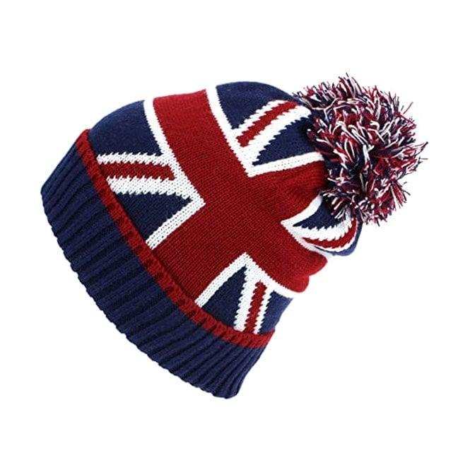 Union Jack Wear Union Jack Pom Pom Bobble Hat
