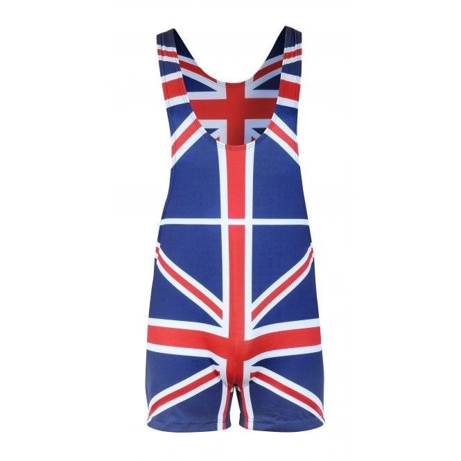 Union Jack Wear Union Jack Sports Singlet Lycra all-in-one