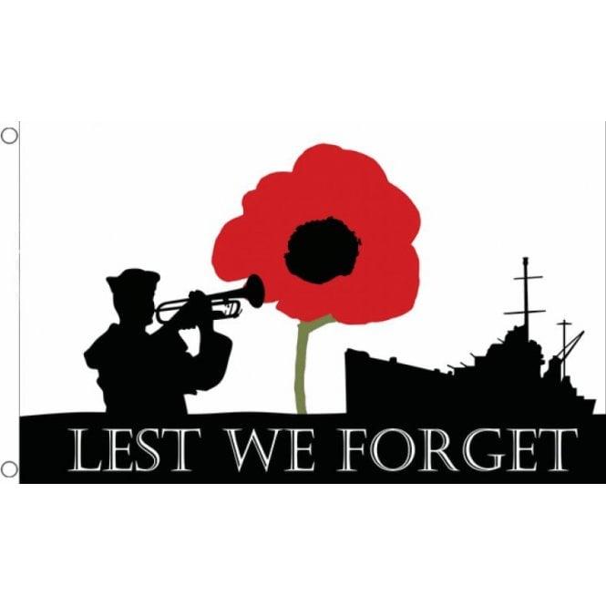 Union Jack Wear Lest We Forget Flag 5' x 3' NAVY