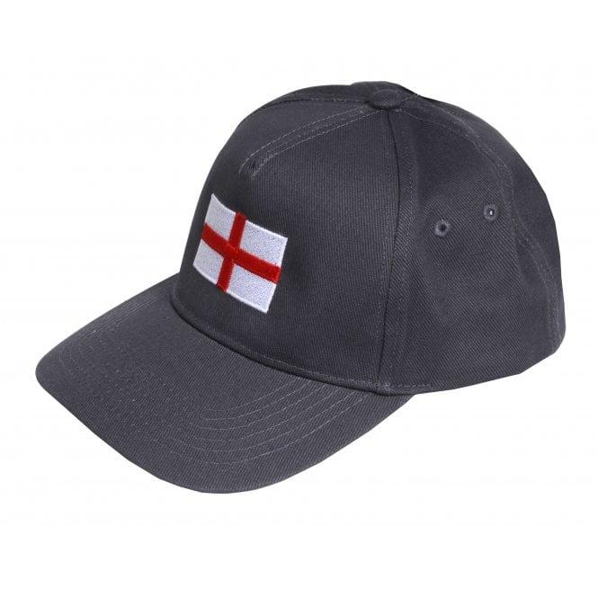 Union Jack Wear Grey Baseball Cap with England Flag Adult size
