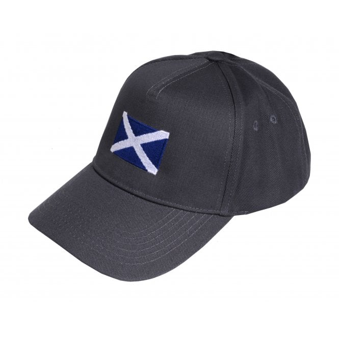 Union Jack Wear Grey Baseball Cap with Scotland Flag Adult size