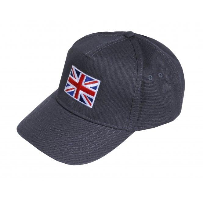 Union Jack Wear Grey Baseball Cap with Union Jack Flag Adult size