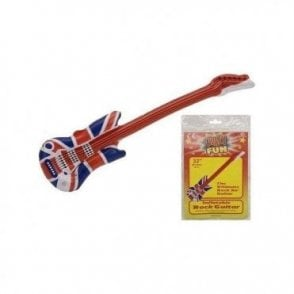 Union Jack Inflatable Guitar