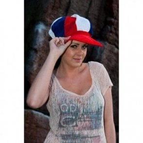 Red White and Blue Baker Boy style hat