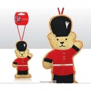 British Themed Guardsman Teddy Bear Christmas Tree  Decoration