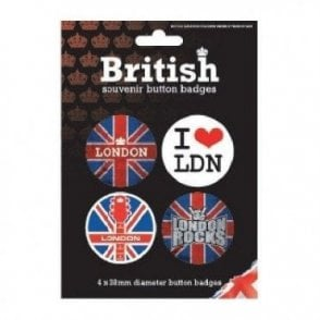 Union Jack London Badges