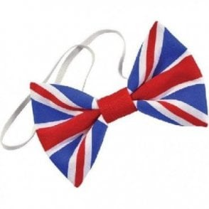 Union Jack Cloth Bow Tie