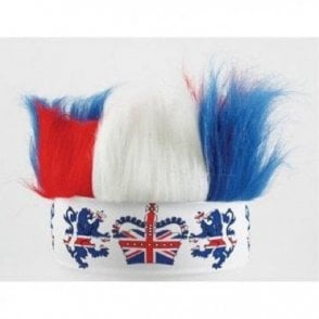 Red White and Blue Crazy hair