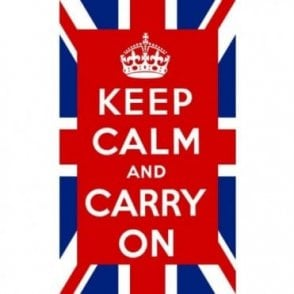 Union Jack Keep Calm and Carry on Flag