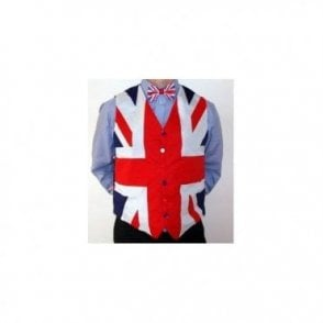 Union Jack Waistcoat and Satin Bow Tie
