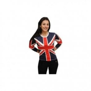 Union Jack 3/4 Length  sleeve T shirt