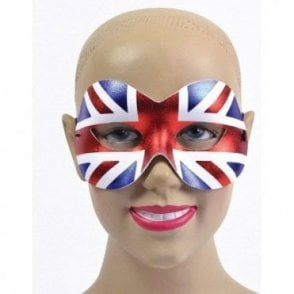 Union Jack Ladies Masquerade Eye Mask