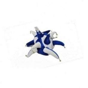 Blue and White Jester hat