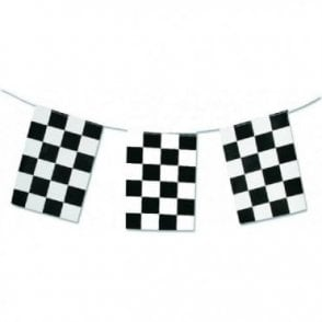 Black & White Check Bunting Flag Bunting 5m