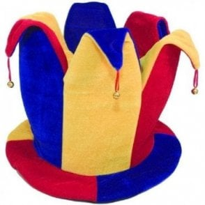 Red Blue & Yellow Jester Topper hat
