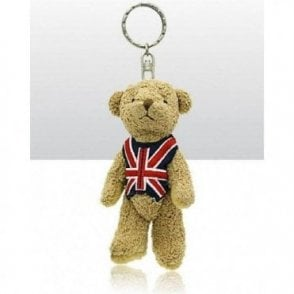 Union Jack Teddy Keyring