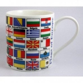 European Flag Fine Bone China Mug in Presentation Box