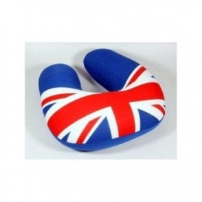 Union Jack Micro Beaded Travel Neck Pillow Cushion