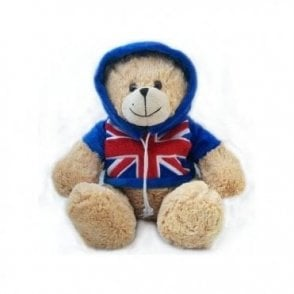 Union Jack Hoodie Teddy Bear Large/Small