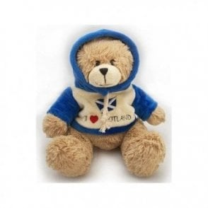 I Love Scotland Hoodie Teddy Bear