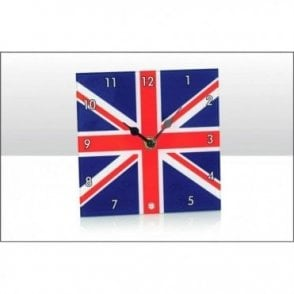 Union Jack Glass Desk Clock