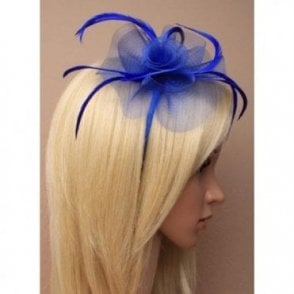 Royal Blue Fascinator