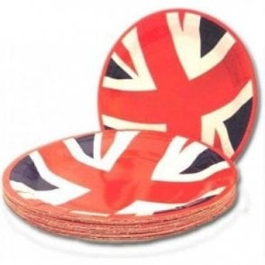 Union Jack Value Party Plates - pack of 20