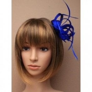 Royal Blue Looped Fascinator -  Queen's 90th Birthday Celebration