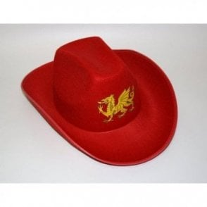 Red Wales Welsh Cowboy hat