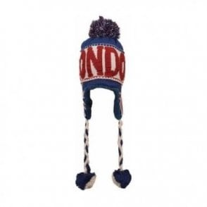 Union Jack London Design Peruvian Hat with Pom Pom