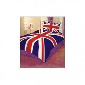 Union Jack Single Duvet cover set with Slight Flaws  -