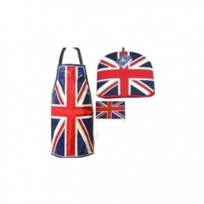 Patriotic Union Jack Kitchen Set - Apron, Tea Cosy & Tea Towel