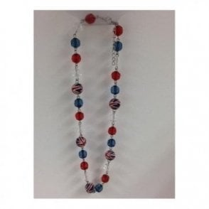 Union Jack Red White and Blue Necklace