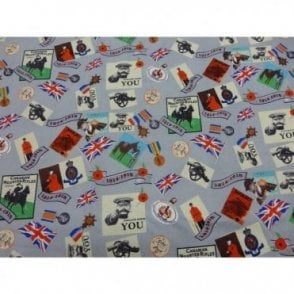 British themed fabric commemorating WW1