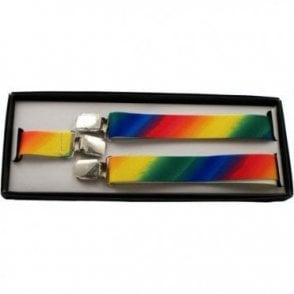 Adjustable 25 mm Rainbow Pride Braces