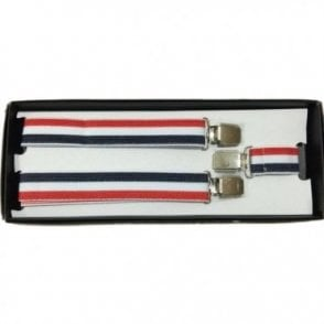 Adjustable Red, White and Blue Braces