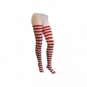 Fancy Dress Tights Lingerie Red And White Stripe