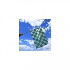 Green & White Checkered Flag 5' x 3'